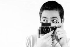 Man with camera. Stock Images