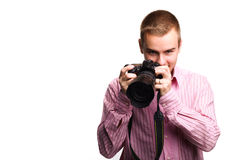 Man with camera Royalty Free Stock Photos