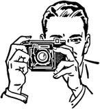 Man With Camera royalty free illustration