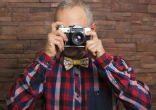 Man with a camera Royalty Free Stock Photo