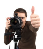 Man with camera. Stock Image