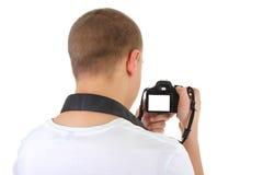 Man with camera. copyspace Royalty Free Stock Photos