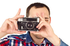 Man with camera Stock Image