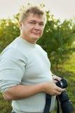 Man with a camera Stock Photos