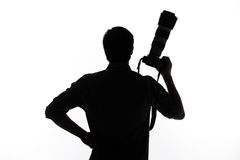 Man with camera. Stock Photography