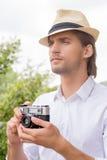 Man with camera. Royalty Free Stock Photos