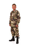 Man in camouflage Royalty Free Stock Images