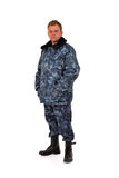 Man in camouflage Stock Images