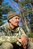 Man in Camouflage 17 Stock Photo