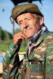 A man in a camouflage Royalty Free Stock Photography