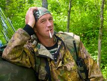 Man in Camouflage 6 Stock Photos