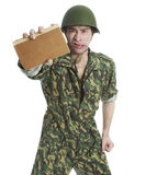Man in camouflage Stock Image