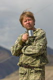 A man in camouflage Stock Photo