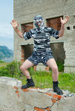 Man in camouflage mask 1 Stock Photography