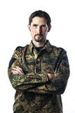 Man with camouflage Royalty Free Stock Image