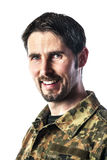 Man with camouflage Stock Photography