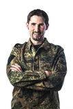Man with camouflage Royalty Free Stock Images