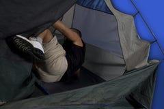 Man camping Royalty Free Stock Image