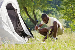 Man camping Stock Photos