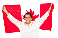 Man with Canada flag Stock Photography