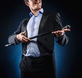 Man with cane Stock Image