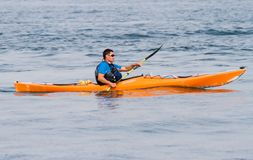 A man canoeing Royalty Free Stock Photography
