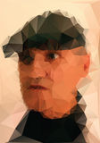 Man with cap. Low poly vector illustration Stock Photos