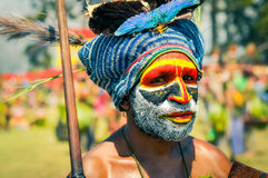 Man with cap in Papua New Guinea Royalty Free Stock Image