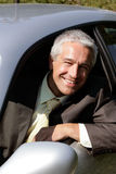 Man in car Stock Photo