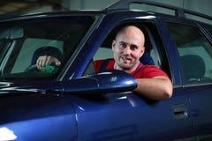 Man in a car Stock Photo