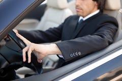 Man in car Royalty Free Stock Image