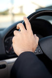 Man in car Royalty Free Stock Photography