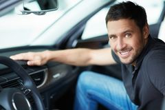 Man in a car Royalty Free Stock Photography