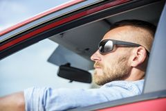 Man in car. Royalty Free Stock Image