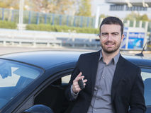 Man car buy Royalty Free Stock Photography