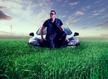 Man and car concept royalty free stock photo