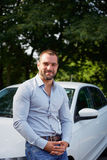Man with car Royalty Free Stock Photo