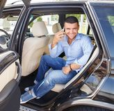 Man in car Stock Photos
