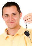 Man with car keys Royalty Free Stock Photo