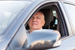 Man in  car. Royalty Free Stock Photography