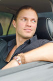 Man in the car. Royalty Free Stock Images
