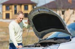 Man and car Royalty Free Stock Image