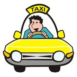 Man in the car-taxi Royalty Free Stock Photography