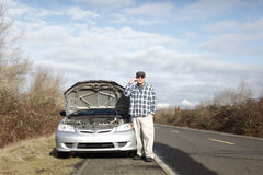 Man with car trouble Royalty Free Stock Photography