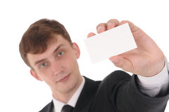 Man with card Royalty Free Stock Photo
