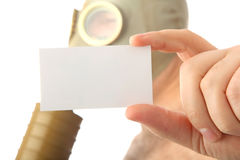 Man with card Stock Photography