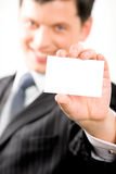 Man with card Stock Image