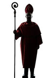 Man cardinal bishop silhouette Stock Photography