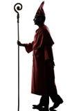 Man cardinal bishop silhouette Stock Photo