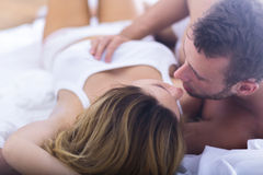 Man caressing sexy woman Stock Photo
